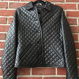 KENNETH COLE QUILTED LEATHER JACKET SIZE M